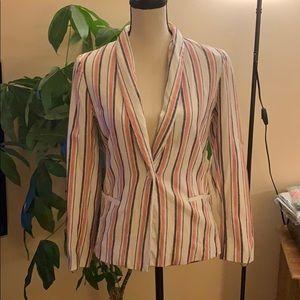 Adrienne Vittadini Striped Blazer Size Small
